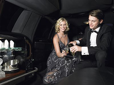 couple in limousine